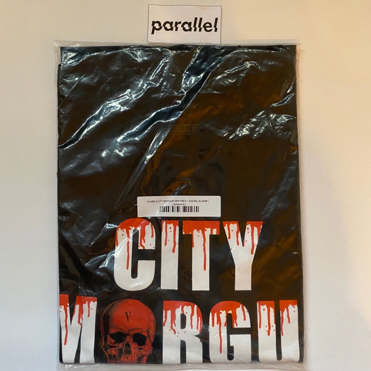 Vlone x City Morgue Drip Black Tee Large