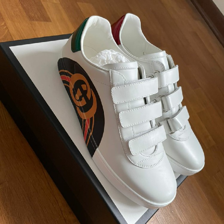 Gucci ace sneakers with strap