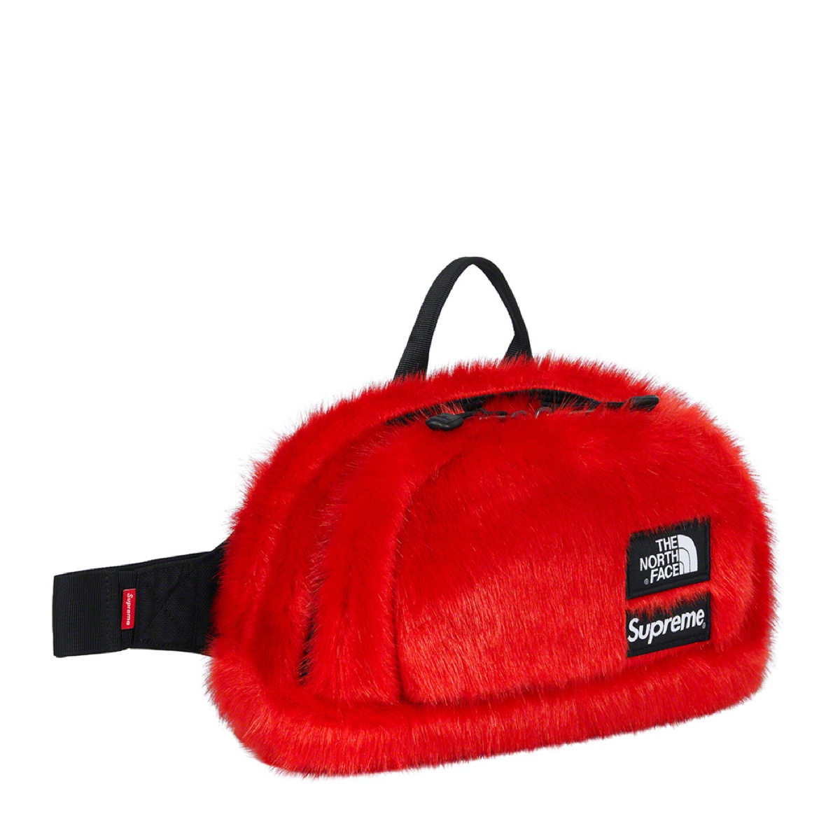 Supreme The North Face Faux Fur Waist Bag Red