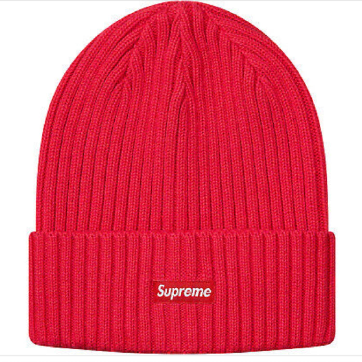 Supreme Overdyed Beanie Red Ss19