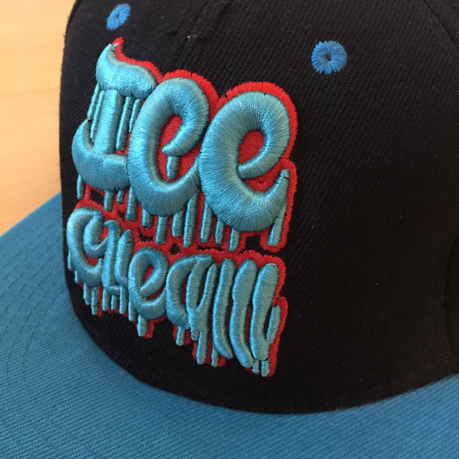 Icecream Dripping Logo Flatbrim: