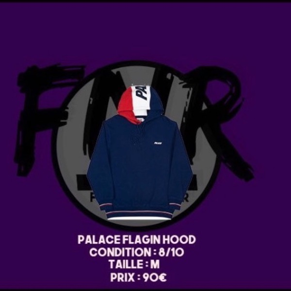 Palace Flagin Hood Navy/Red/White
