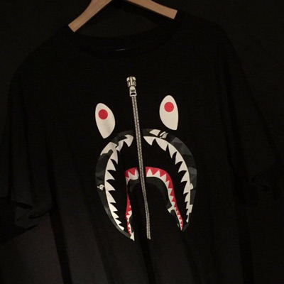 Bape Shark Face Tee And A Bathing Ape Tee