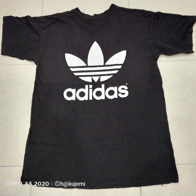 Vintage 90s Adidas Double Sided Trefoil Graphic