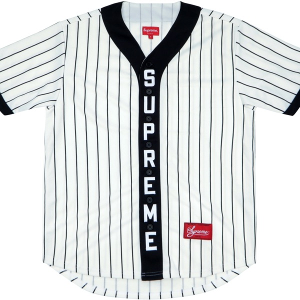 Supreme Vertical Logo Baseball Jersey Medium