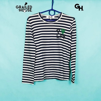 Cdg Play Striped Longsleeve