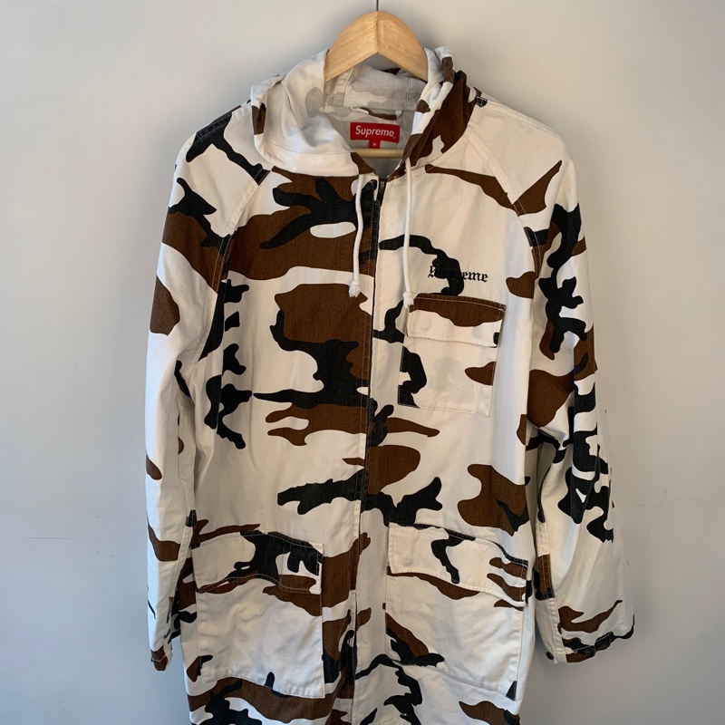 Supreme Cow Camo Full Zip Parka Jacket