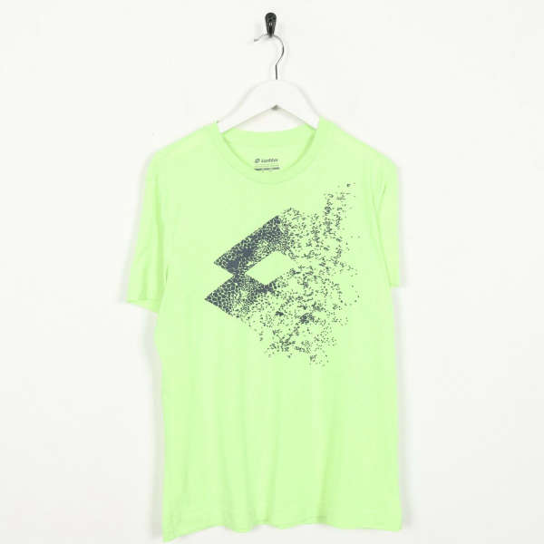 Vintage LOTTO Big Logo T Shirt Tee Green | Small S
