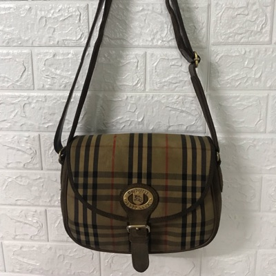 Authentic Vintage Burberry's Shoulder Sling Bag