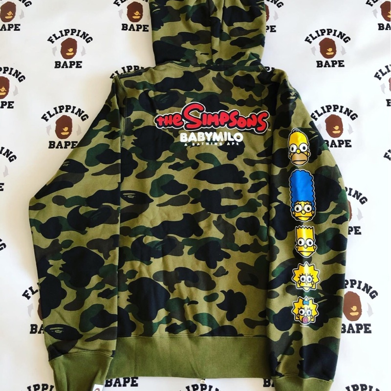 BAPE X THE SIMPSONS 1ST CAMO FULL ZIP HOODIE