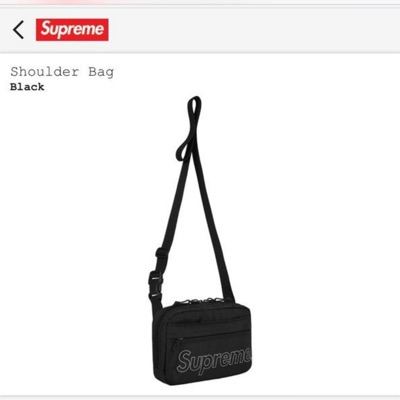 Supreme Fw18 Shoulder Bag Black