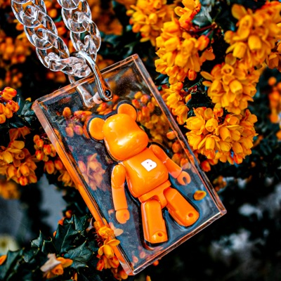 Bearbrick Resin Pendant And Chain