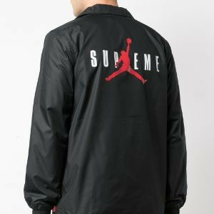 Supreme Jordan Coaches Jacket Black