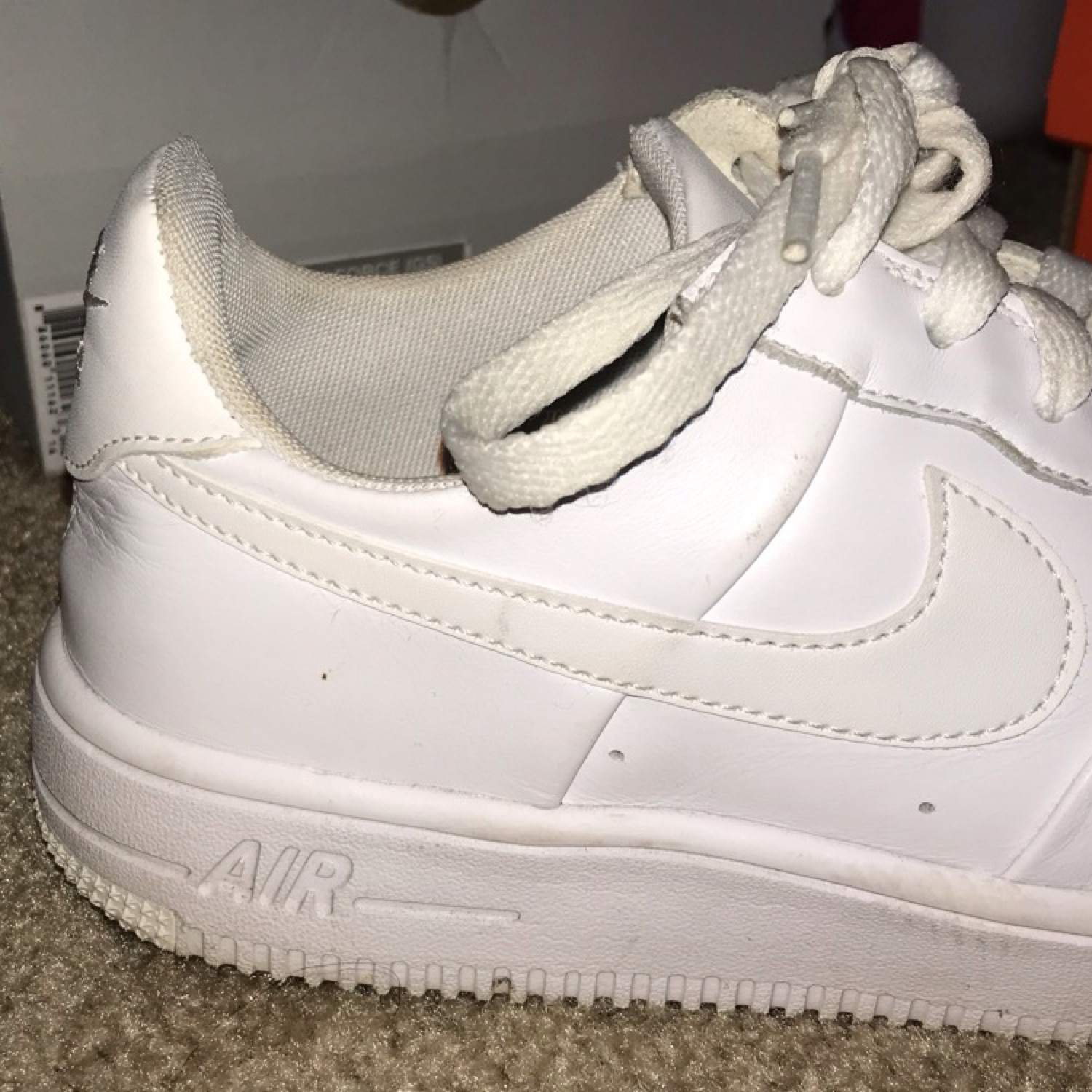 buy popular e79b7 a8397 All White Air Force 1S