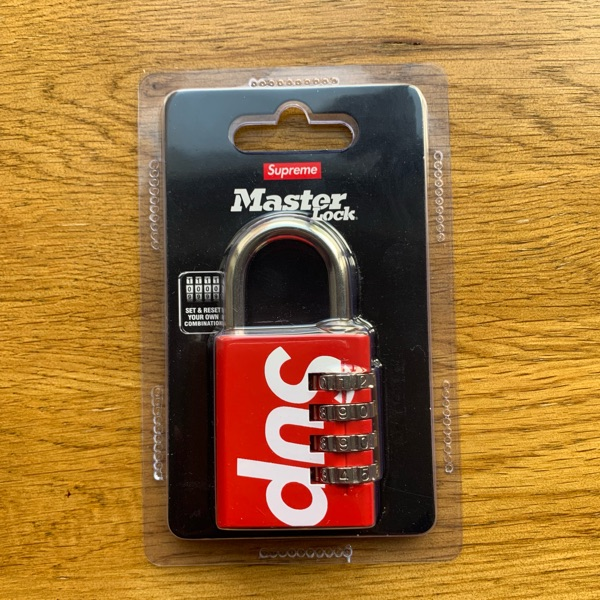 Supreme Master Lock Numeric Combination Lock Red