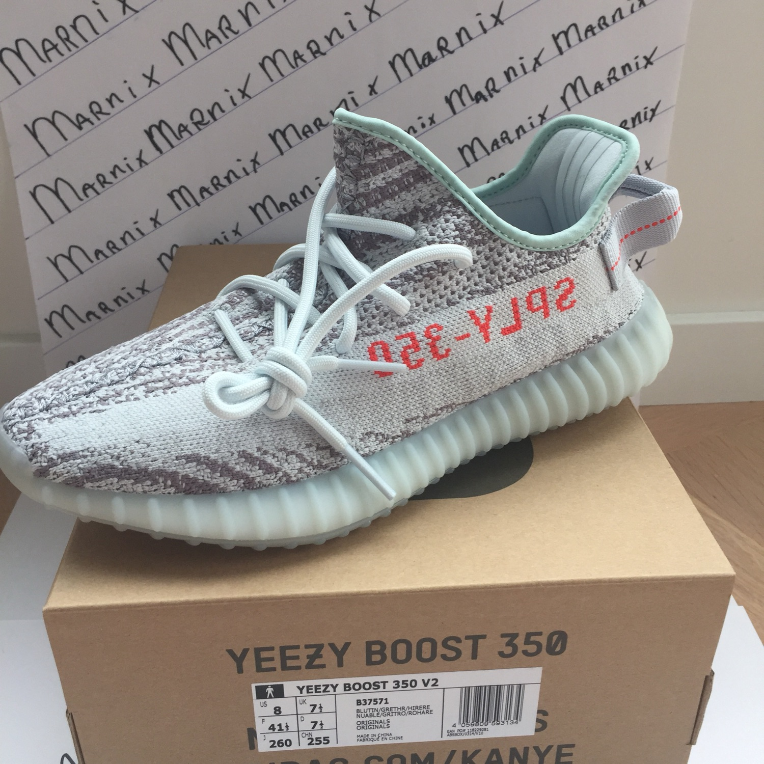 a2abeb6f0c55b Yeezy Boost 350 Blue Tint 7 1 2 Uk 8 Us 41 1 3 Eu.