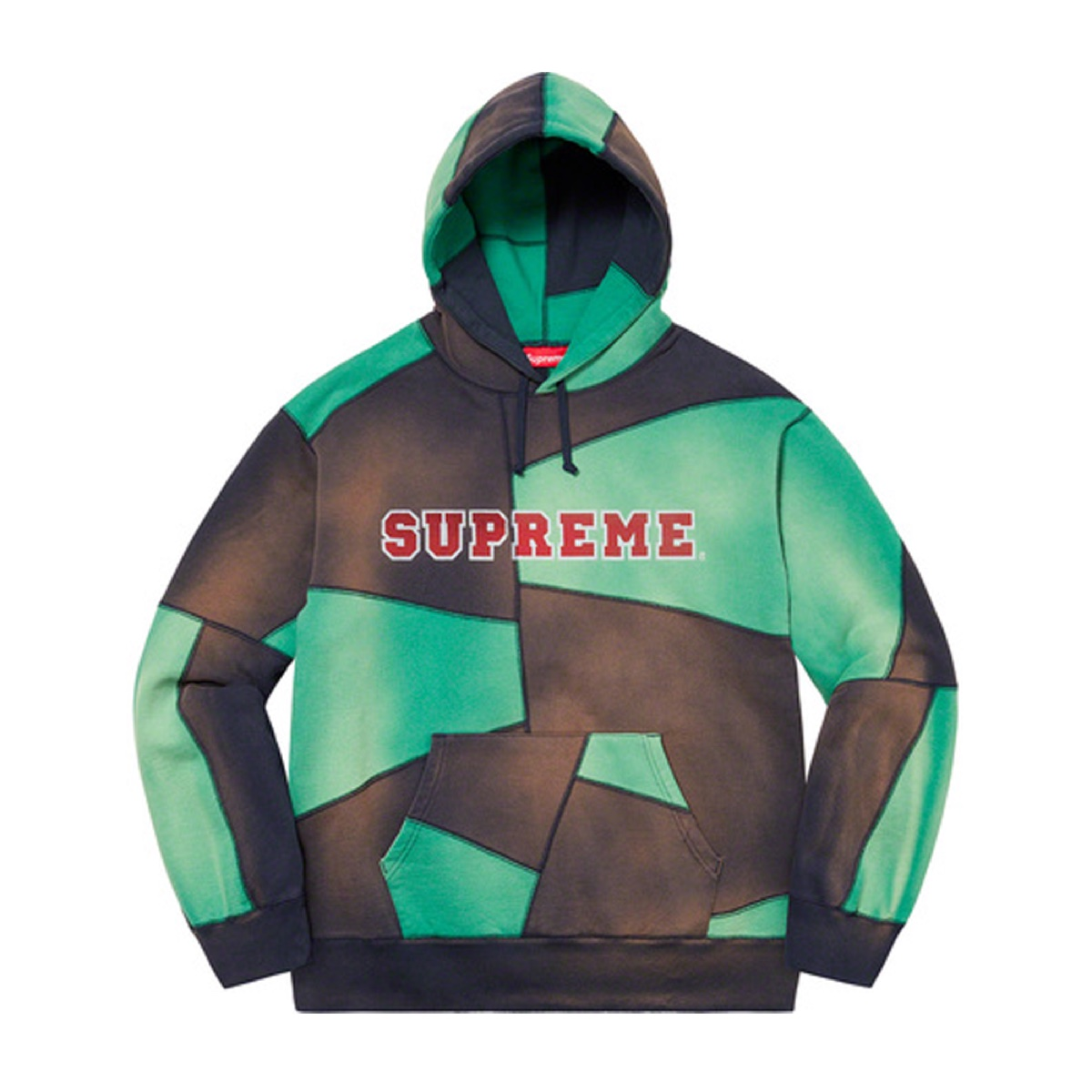 Supreme Patchwork Hooded Sweatshirt Navy