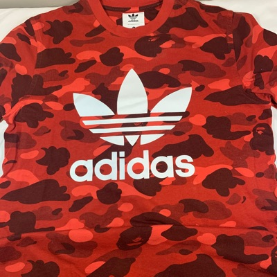 BAPE x adidas adicolor Track Top Raw Red