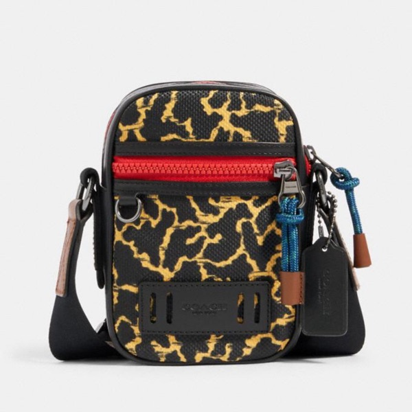Coach Terrain Crossbody Shoulder Bag Camo Yellow