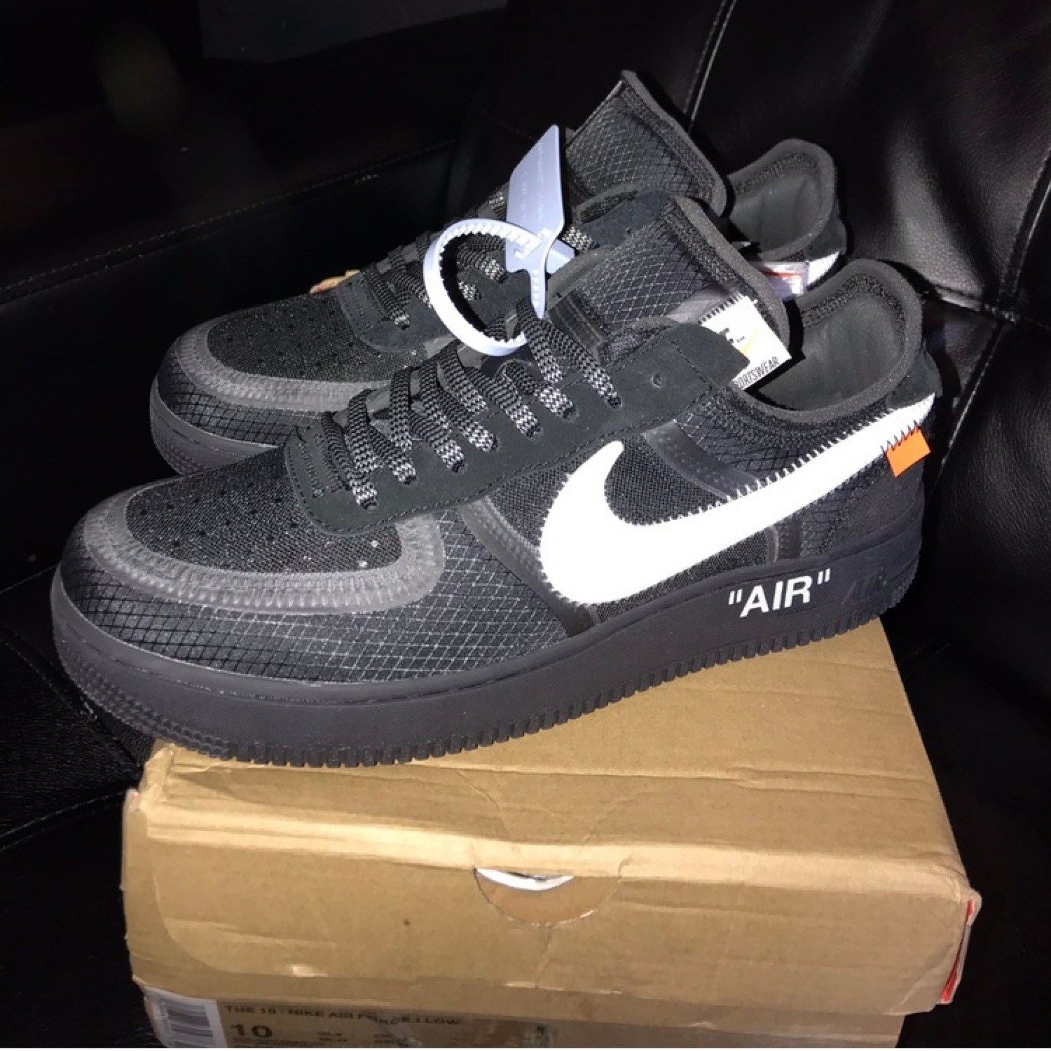 Off White x Nike Air Force 1 Low Black White