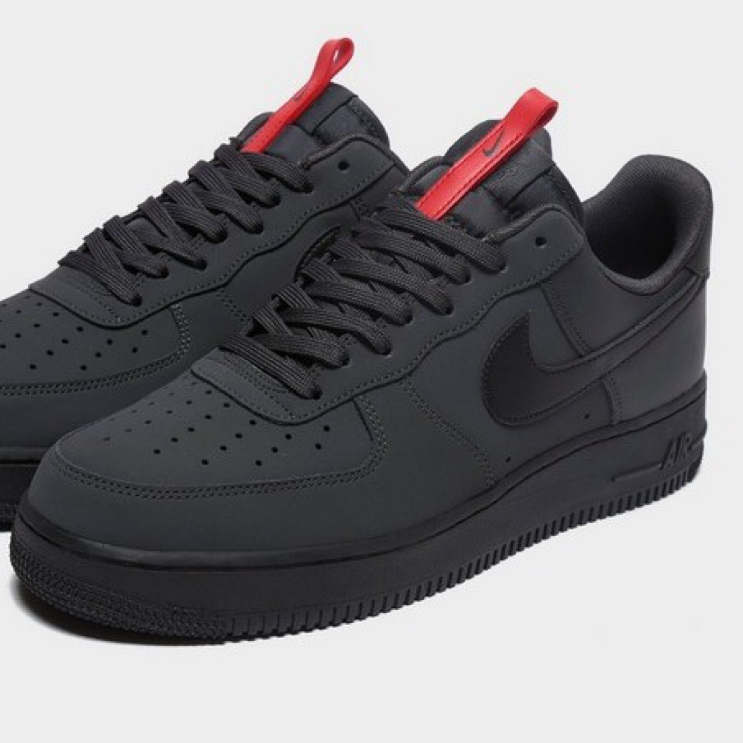 grey and red air force 1