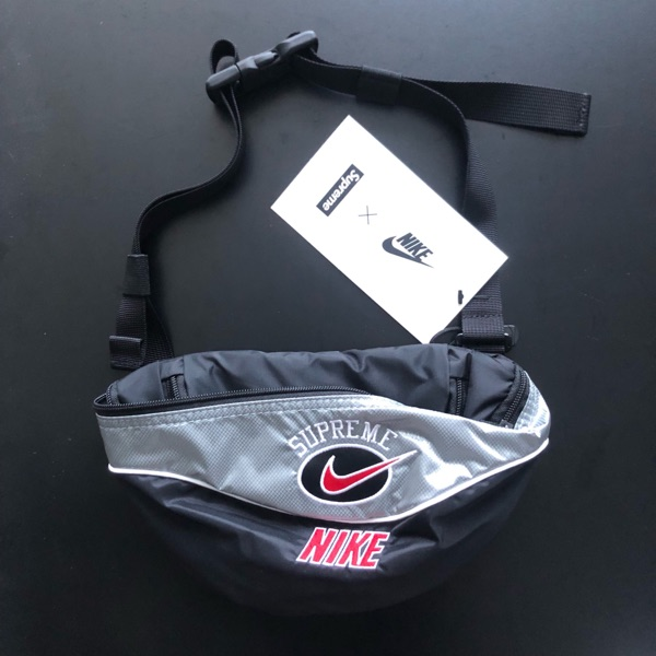 Ds 19 Supreme X Nike Black Side Shoulder Bag Bape
