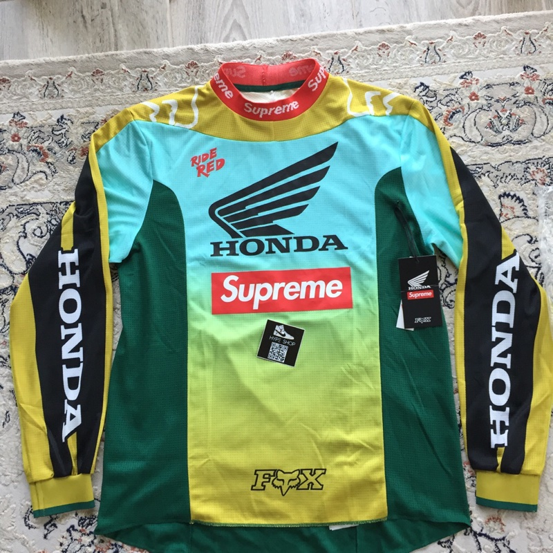 Supreme Honda Fox Racing Moto Jersey Top Moss