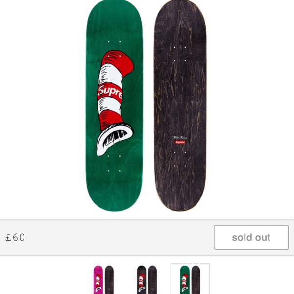 Supreme Cat In The Hat Green Deck Board