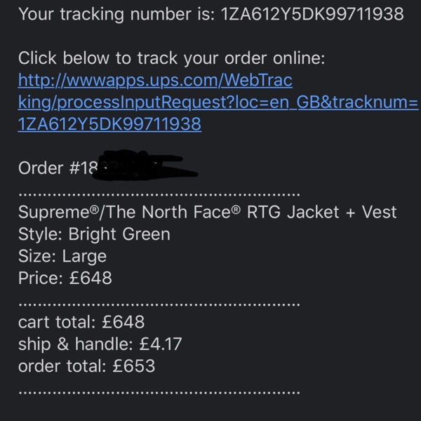 Supreme The North Face Rtg Jacket + Vest Retail