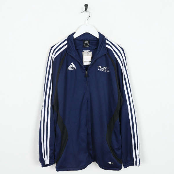 Vintage ADIDAS Small Logo Tracksuit Top Jacket Navy Blue | Small S