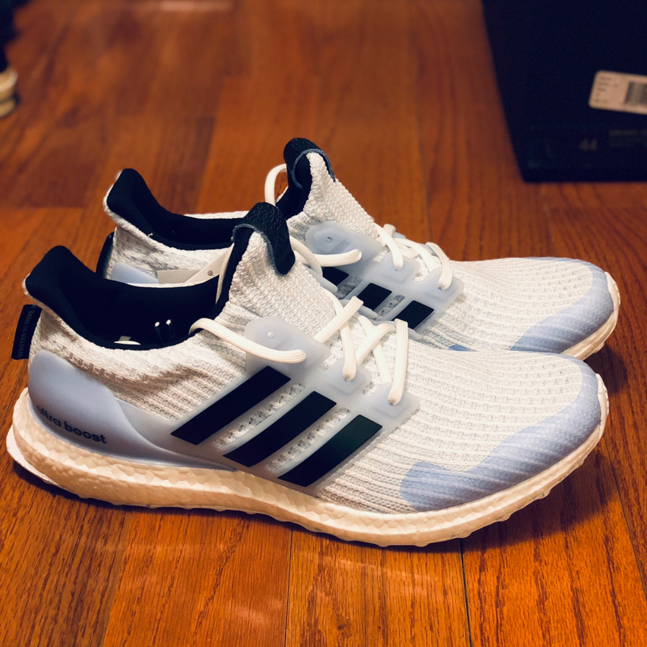 """first rate on feet shots of get cheap Game Of Thrones Adidas Ultraboost """"White Walkers"""""""