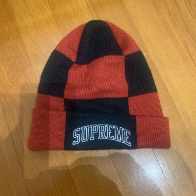 Supreme Beanie Black And Red