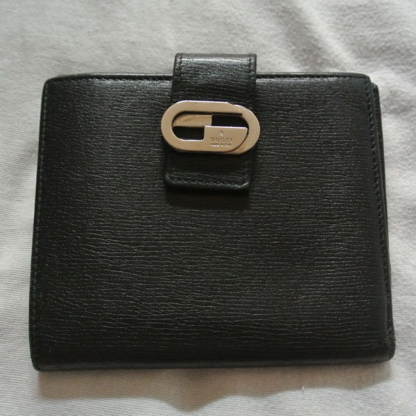 Gucci Black Leather Wallet Purse Card Holder