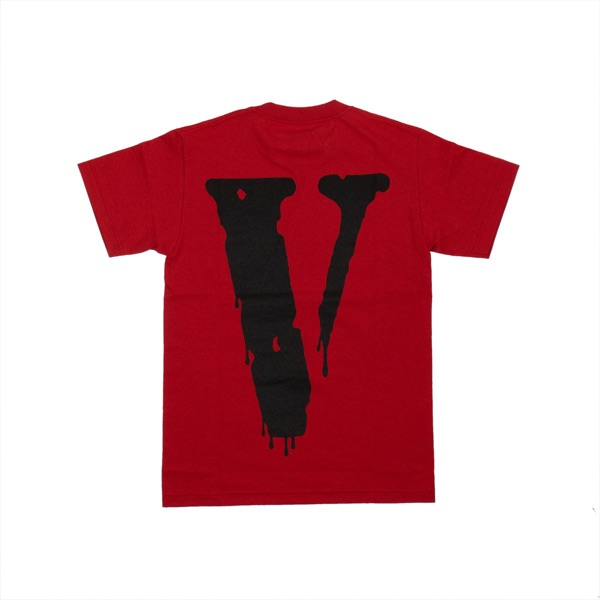 Vlone X Nav Bad Habits Drip Tee Red Large