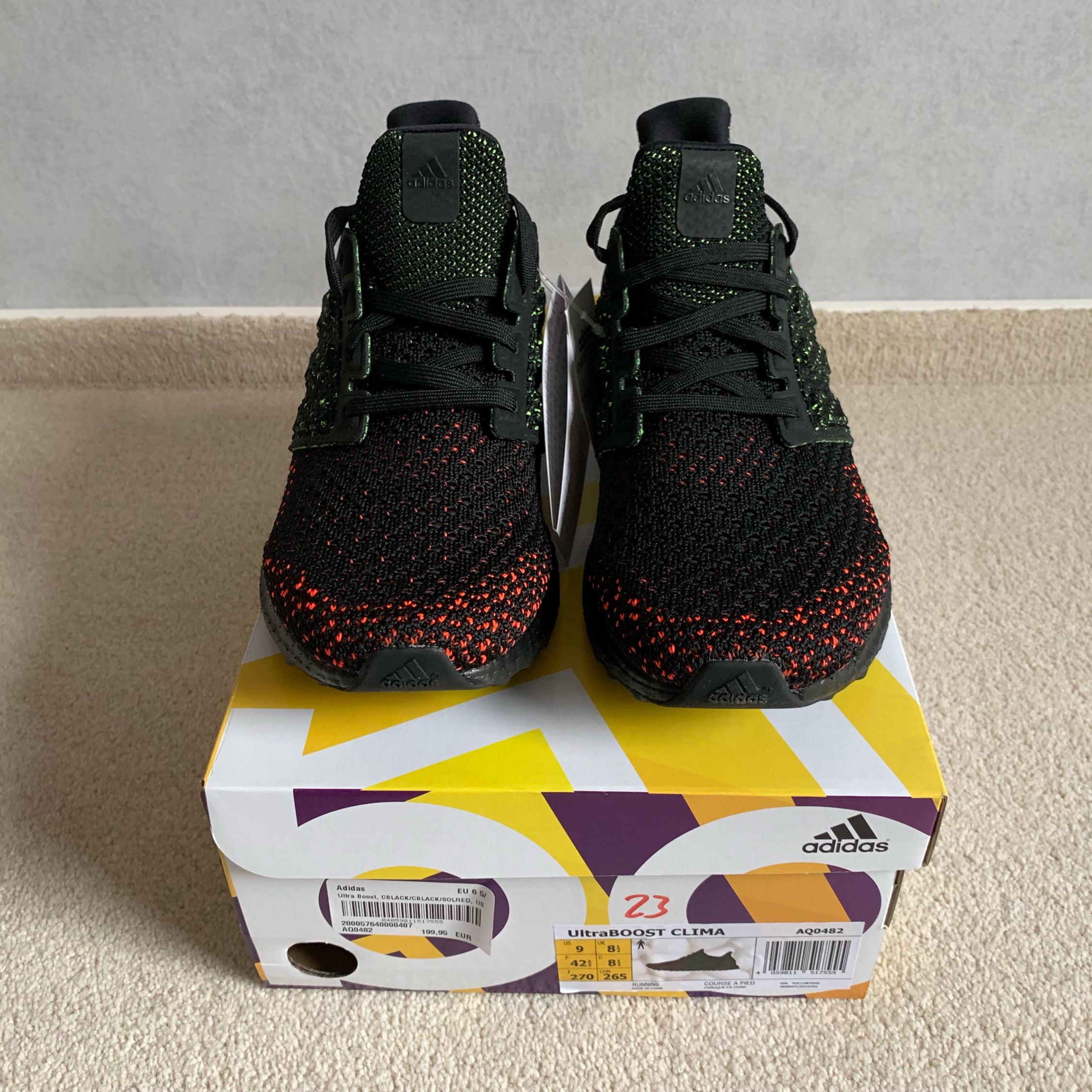 save off 6587d 1e200 Adidas Ultra Boost Clima Core Black Red Us 9 Ds