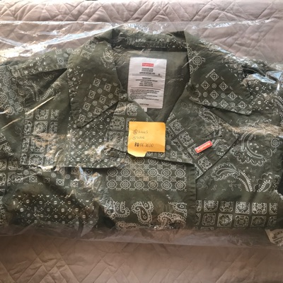 Supreme Military Trench Coat Olive Paisley