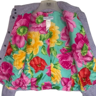 Nwt D&G Purple Floral Lining Italy Outerwear