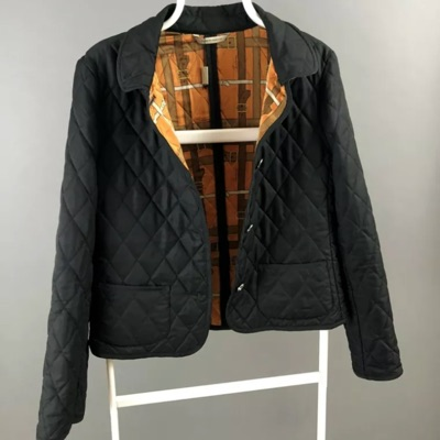 Burberry London Wmns Black Diamond Quilted Jacket