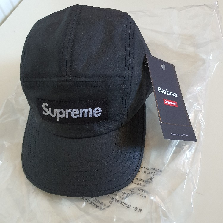 SS20 Supreme x Barbour cotton camp cap