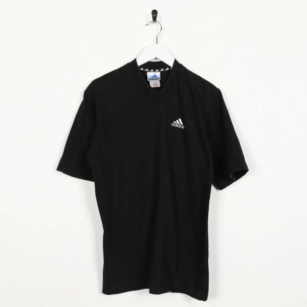 Vintage 90s ADIDAS Small Logo T Shirt Tee Black | Small S