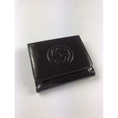 Gucci Gg Black Leather Bifold Wallet