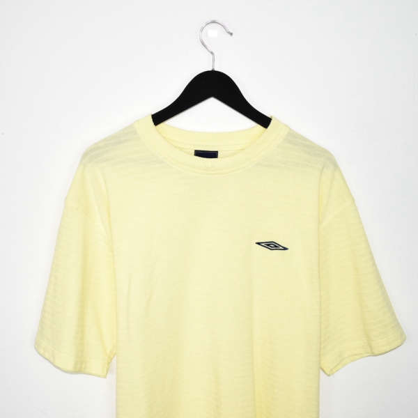 Vintage Umbro t-shirt top blouse tee in yellow