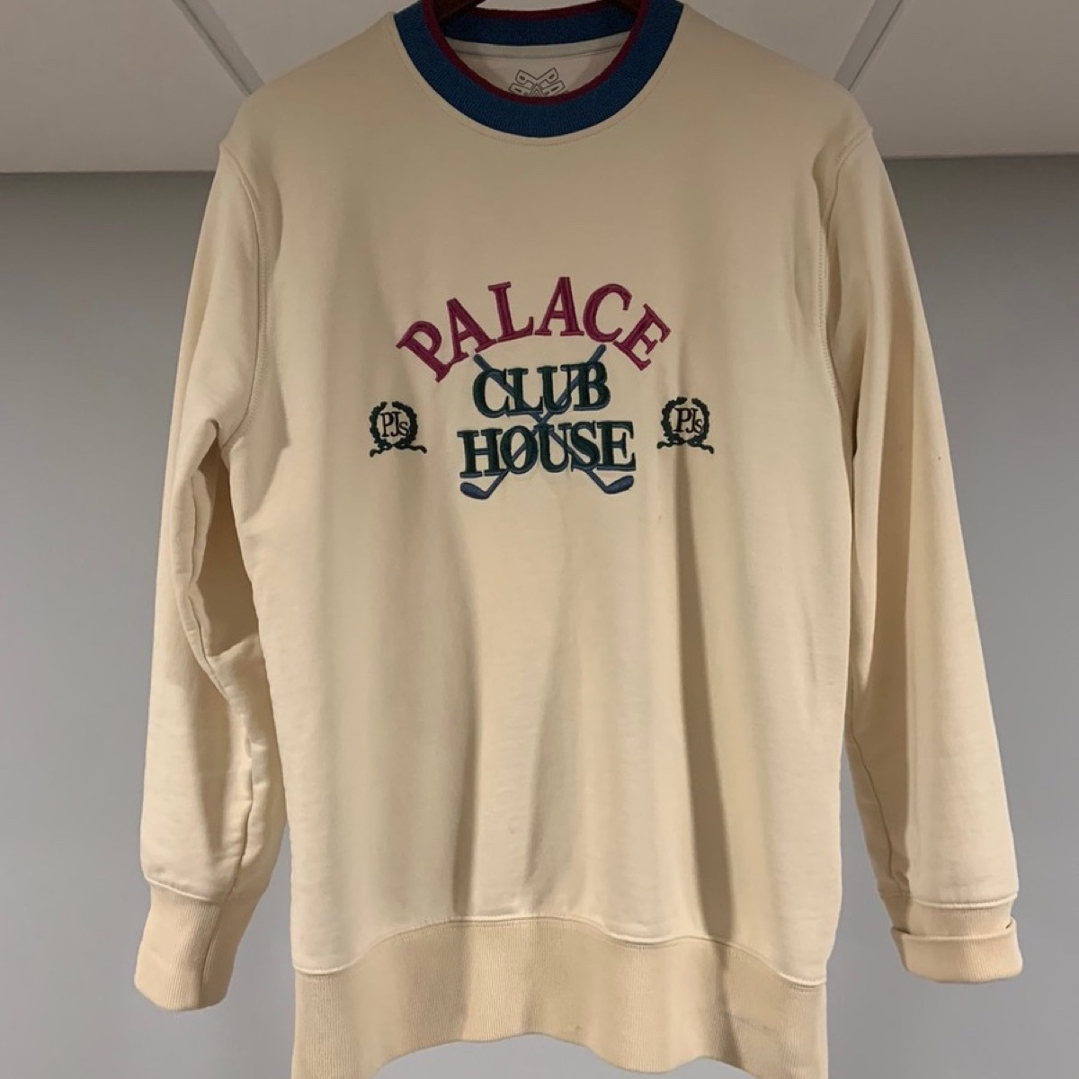 Palace Clubhouse Crew Cream