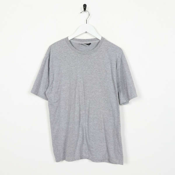 Vintage REEBOK Small Logo T Shirt Tee Grey | Large L