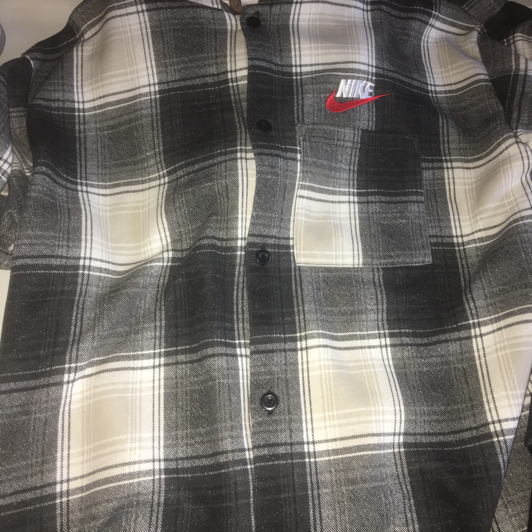 cheap sale great prices to buy Supreme Nike Black Plaid Hooded Sweatshirt