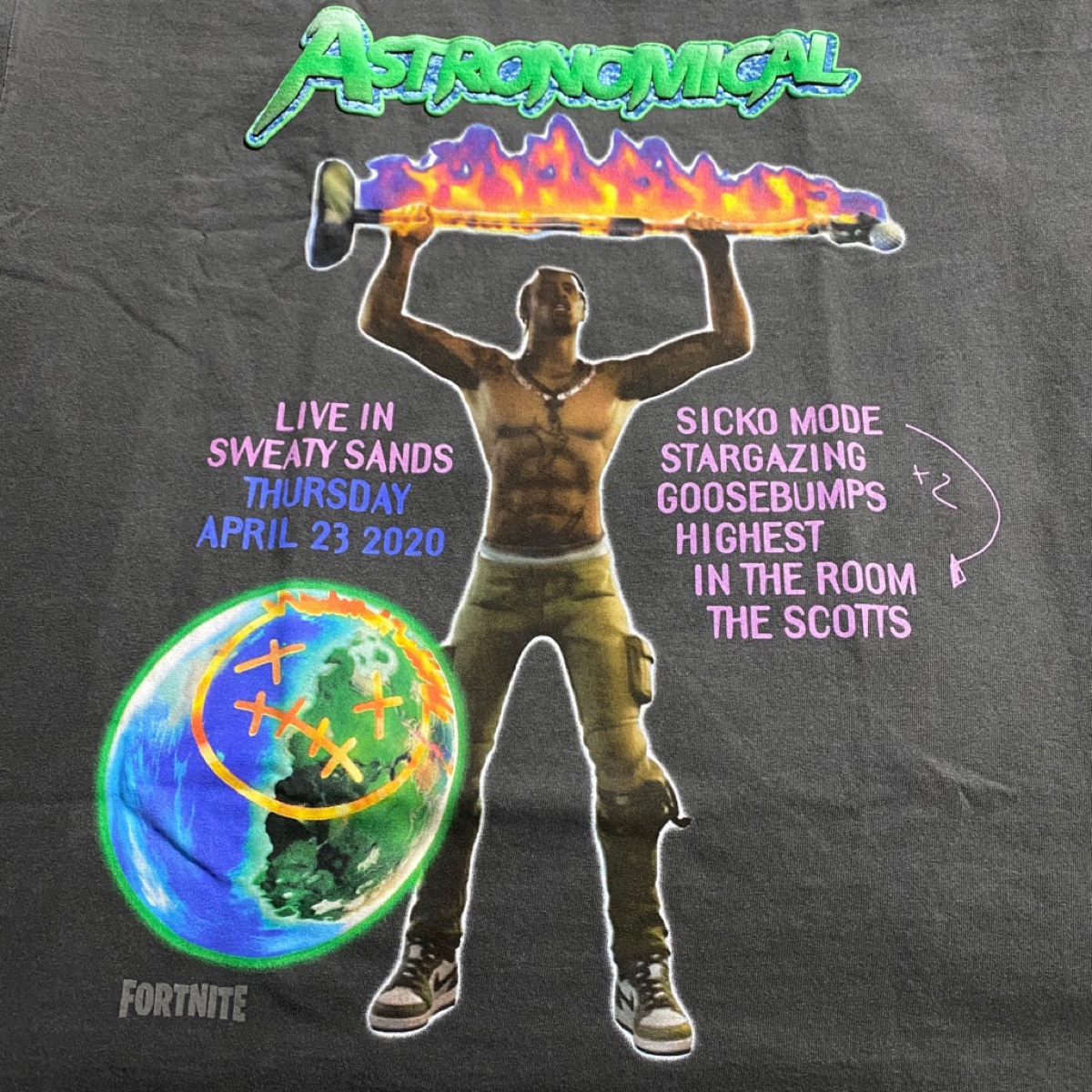 Travis Scott X Fortnite Back Bling Tee