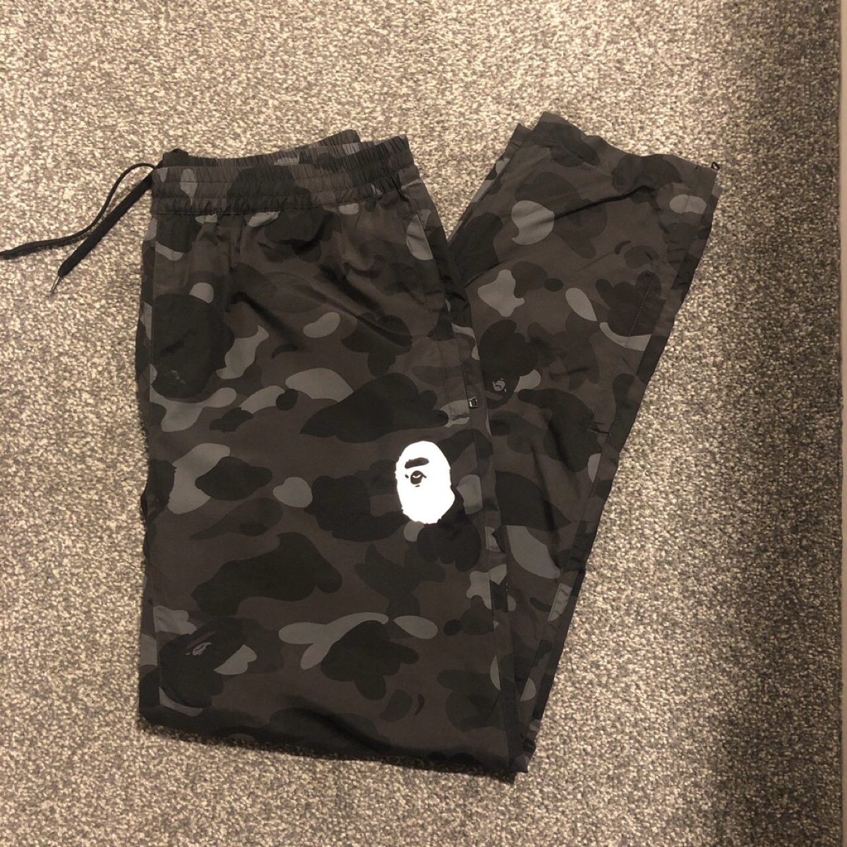 Bape Black Camo Track Pants