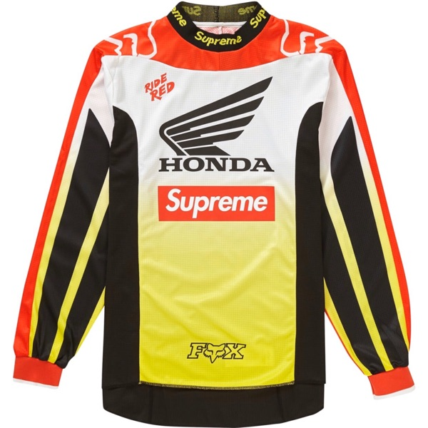 Supreme Honda Fox Racing Moto Jersey Top Red Fw19