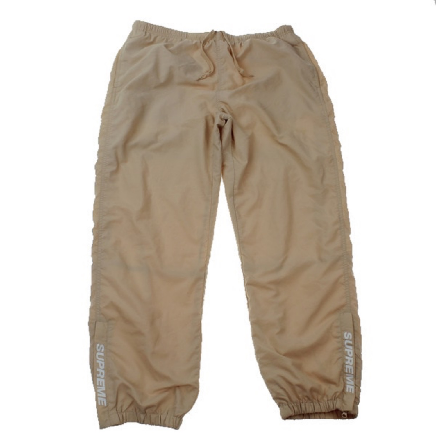 Supreme Beige Warmup Track Pants