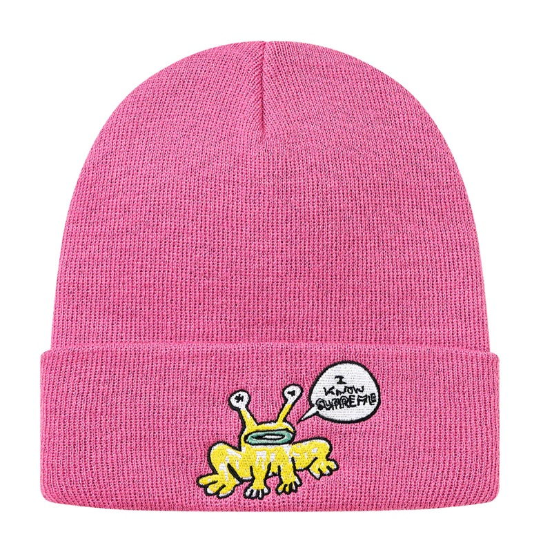Supreme Daniel Johnston Beanie Fuschsia